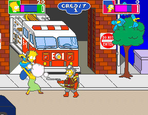 Pantallazo del juego online The Simpsons (Mame)