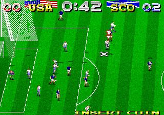 Pantallazo del juego online Tecmo World Cup '94 (Mame)