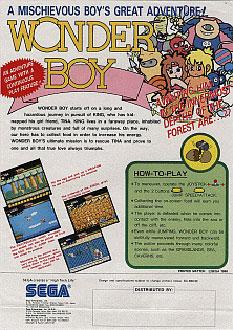 Carátula del juego Wonderboy (Mame)