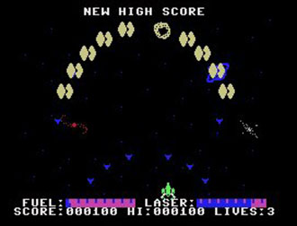 Pantallazo del juego online Astro Blaster (MSX)