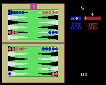 Pantallazo del juego online Backgammon (MSX)