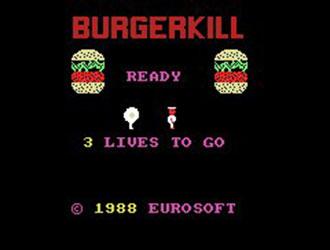 Carátula del juego Burgerkill (MSX)