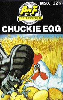 Carátula del juego Chuckie Egg (MSX)
