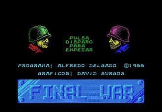 Juego online Final War (MSX)