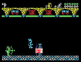 Pantallazo del juego online Las Tres Luces de Glaurung (MSX)