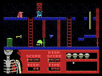 Pantallazo del juego online Haunted House (MSX)