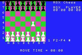 Imagen de la descarga de MSX Chess