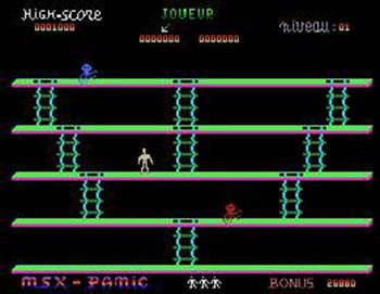 Imagen de la descarga de MSX Panic
