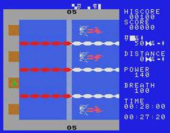Imagen de la descarga de MSX Swimming Game