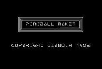 Portada de la descarga de Pingball Maker