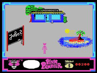 Pantallazo del juego online Pink Panther (MSX)