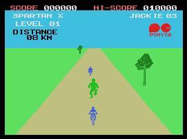 Pantallazo del juego online Spartan X (MSX)