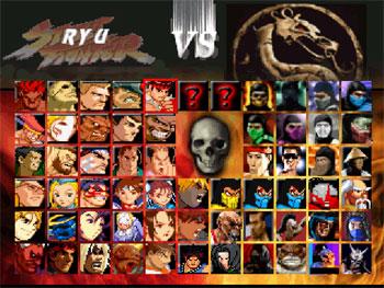 Carátula del juego Mortal Kombat vs Street Fighter (MUGEN)