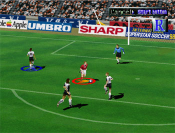 Pantallazo del juego online International Superstar Soccer '98 (N64)