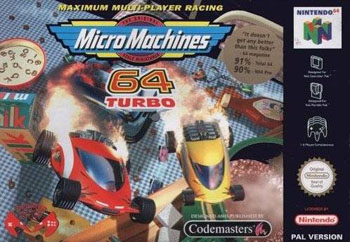 Carátula del juego Micro Machines 64 Turbo (N64)
