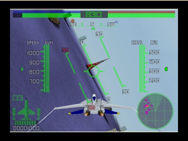 Pantallazo del juego online AeroFighters Assault (N64)