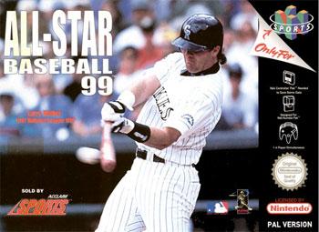 Carátula del juego All-Star Baseball 99 (N64)