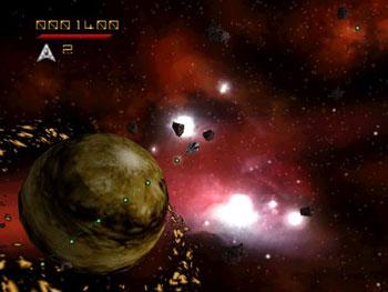 Pantallazo del juego online Asteroids Hyper 64 (N64)