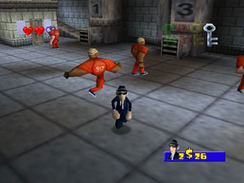 Pantallazo del juego online Blues Brothers 2000 (N64)