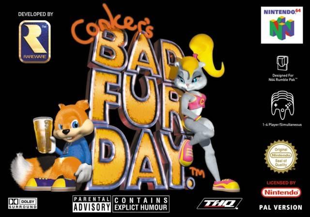 Portada de la descarga de Conker's Bad Fur Day