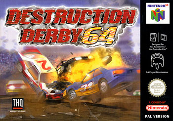 Carátula del juego Destruction Derby 64 (N64)