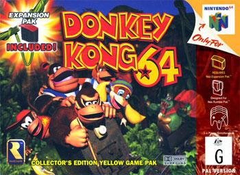 Portada de la descarga de Donkey Kong 64