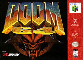 Carátula del juego DOOM 64 (N64)