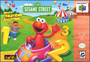 Carátula del juego Sesame Street Elmo's Number Journey (N64)