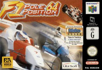 Carátula del juego F1 Pole Position 64 (N64)