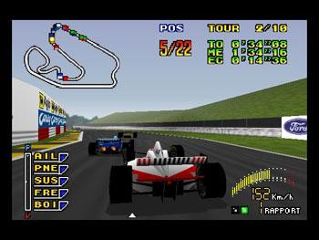 Pantallazo del juego online F1 Pole Position 64 (N64)
