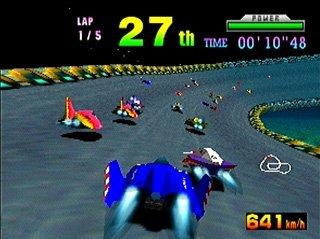 Pantallazo del juego online F-Zero X (N64)