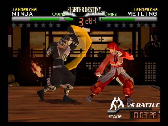 Pantallazo del juego online Fighter Destiny 2 (N64)