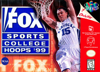 Carátula del juego Fox Sports College Hoops '99 (N64)