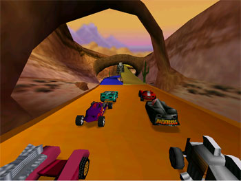 Pantallazo del juego online Hot Wheels Turbo Racing (N64)