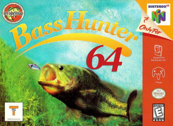 Carátula del juego In-Fisherman Bass Hunter 64 (N64)