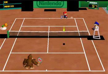 Pantallazo del juego online Mario Tennis (N64)