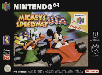 Carátula del juego Mickey's Speedway USA (N64)