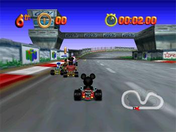Pantallazo del juego online Mickey's Speedway USA (N64)