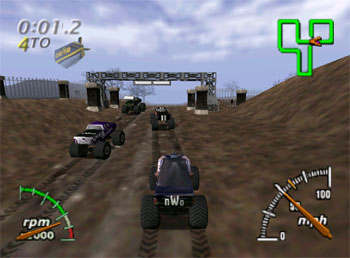 Pantallazo del juego online Monster Truck Madness 64 (N64)