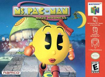 Carátula del juego Ms Pac-Man Maze Madness (N64)