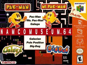 Portada de la descarga de Namco Museum 64