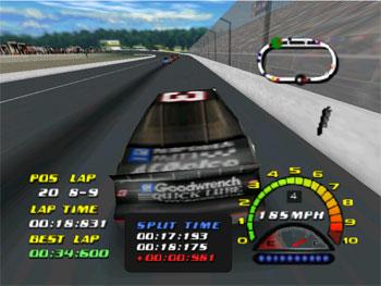 Pantallazo del juego online NASCAR 2000 (N64)