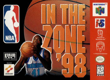 Carátula del juego NBA In the Zone '98 (N64)