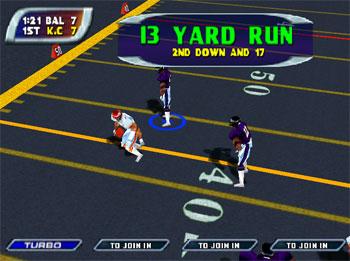 Pantallazo del juego online NFL Blitz Special Edition (N64)