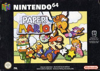 Carátula del juego Paper Mario (N64)