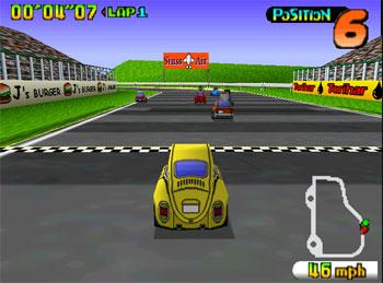 Pantallazo del juego online Penny Racers (N64)