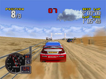 Pantallazo del juego online Rally Challenge 2000 (N64)