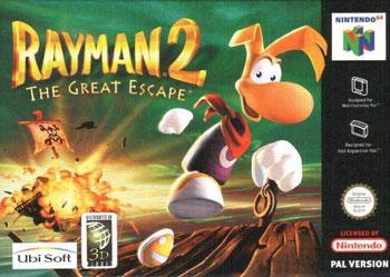Carátula del juego Rayman 2 The Great Escape (N64)