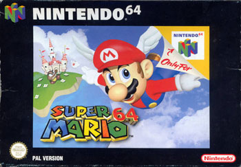 Carátula del juego Super Mario 64 (N64)
