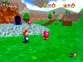 Pantallazo del juego online Super Mario 64 (N64)